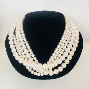 Croft & Barrow | NWT Faux Pearl Layered Necklace